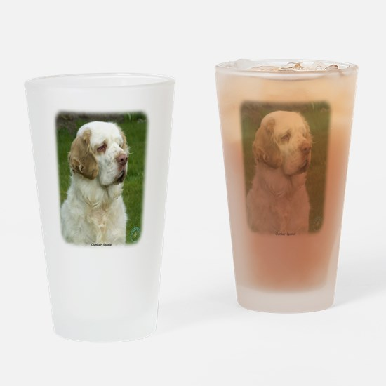 Clumber Spaniel 9Y003D-101 Drinking Glass
