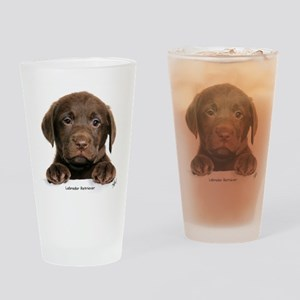 Chocolate Labrador Retriever Drinking Glass