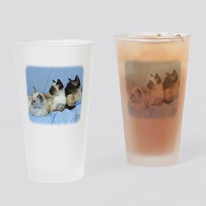 Siamese Cat 9W055D-074 Drinking Glass