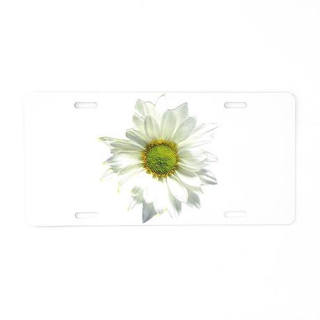 Daisy White/PopArt Aluminum License Plate