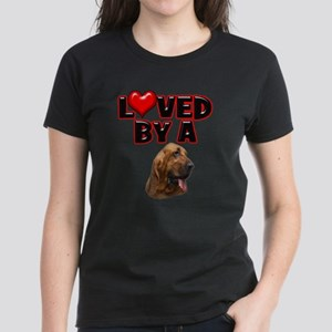 Loved by a Bloodhound Women's Dark T-Shirt