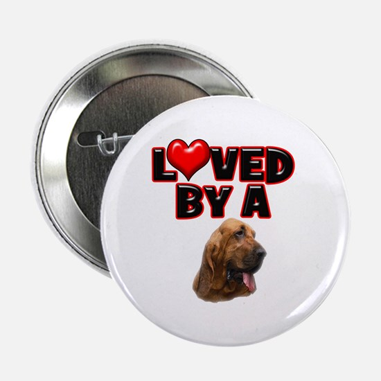 "Loved by a Bloodhound 2.25"" Button"