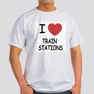 I heart train stations Light T-Shirt