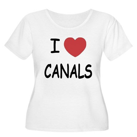 I heart canals Women's Plus Size Scoop Neck T-Shir