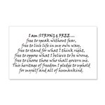 Canadian Pride STRONG & FREE 20x12 Wall Decal