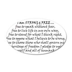 Canadian Pride STRONG & FREE 20x12 Oval Wall Decal