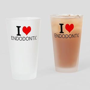 I Love Endodontics Drinking Glass