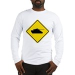 Caution Tank Crossing Long Sleeve T-Shirt