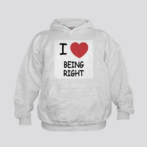 I heart being right Kids Hoodie