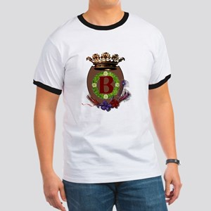 Royal B Crest Ringer T