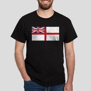 United Kingdom Naval Ensign Black T-Shirt