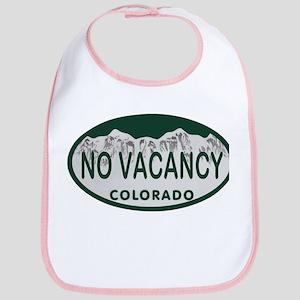 No Vacancy Colo License Plate Bib