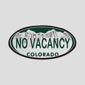 No Vacancy Colo License Plate Patches