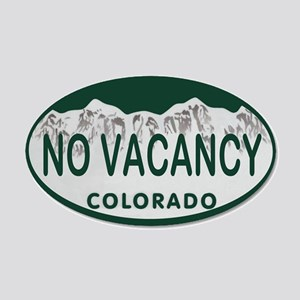No Vacancy Colo License Plate 20x12 Oval Wall Deca