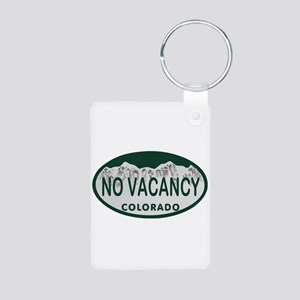 No Vacancy Colo License Plate Aluminum Photo Keych