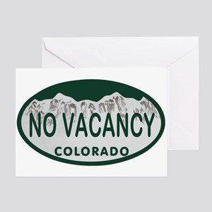 No Vacancy Colo License Plate Greeting Card