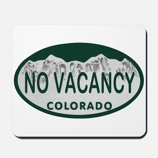 No Vacancy Colo License Plate Mousepad