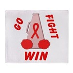 Red GO FIGHT WIN Throw Blanket