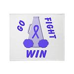 Periwinkle WIN Ribbon Throw Blanket