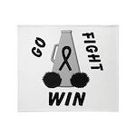 Black WIN Ribbon Throw Blanket