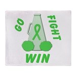 Lime WIN Ribbon Throw Blanket