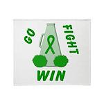 Green WIN Ribbon Throw Blanket