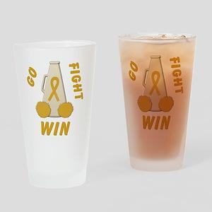 Gold WIN Ribbon Drinking Glass