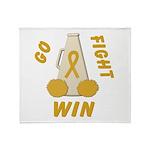 Gold WIN Ribbon Throw Blanket