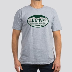 Not a Native Colo License Plate Men's Fitted T-Shi