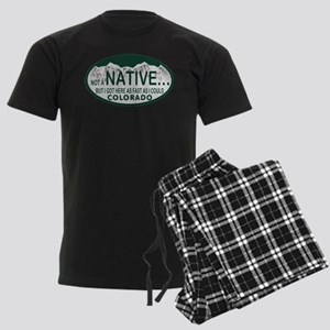 Not a Native Colo License Plate Men's Dark Pajamas