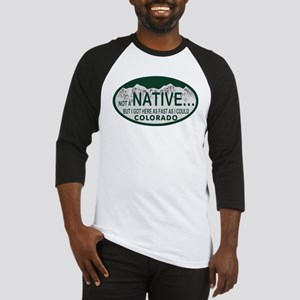 Not a Native Colo License Plate Baseball Jersey