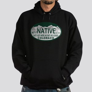 Not a Native Colo License Plate Hoodie (dark)