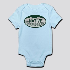 Not a Native Colo License Plate Infant Bodysuit