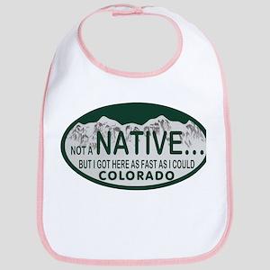 Not a Native Colo License Plate Bib