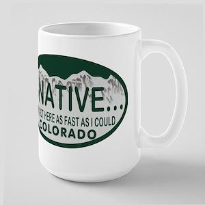 Not a Native Colo License Plate Large Mug