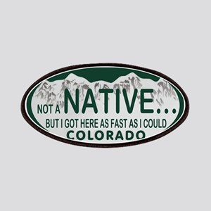 Not a Native Colo License Plate Patches
