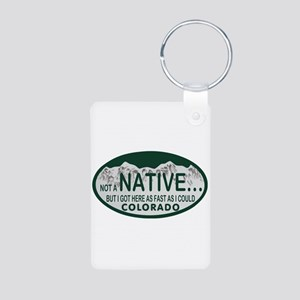 Not a Native Colo License Plate Aluminum Photo Key