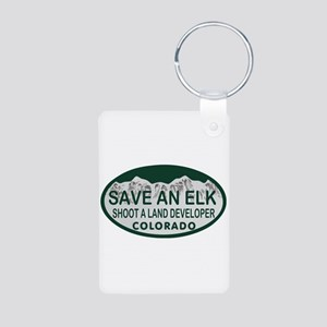 Save an Elk Colo License Plate Aluminum Photo Keyc