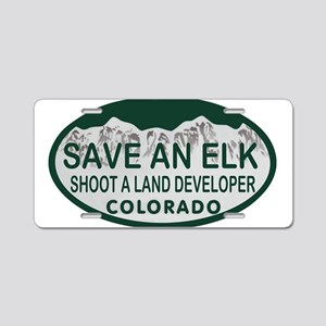 Save an Elk Colo License Plate Aluminum License Pl