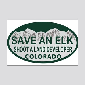 Save an Elk Colo License Plate Mini Poster Print