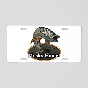 Musky, 6 Aluminum License Plate