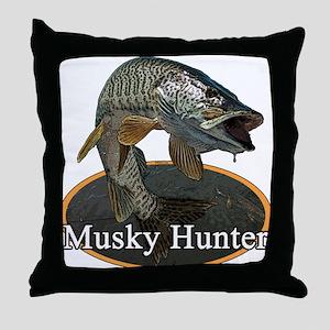 Musky, 6 Throw Pillow