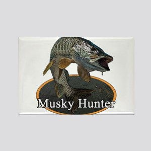Musky, 6 Rectangle Magnet