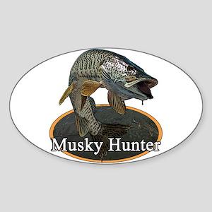 Musky, 6 Sticker (Oval)