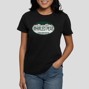 Whirled Peas Colo License Plate Women's Dark T-Shi