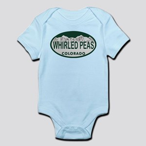 Whirled Peas Colo License Plate Infant Bodysuit