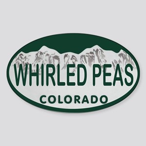 Whirled Peas Colo License Plate Sticker (Oval)