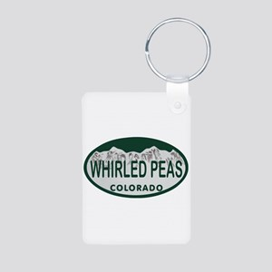 Whirled Peas Colo License Plate Aluminum Photo Key