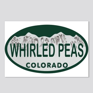 Whirled Peas Colo License Plate Postcards (Package