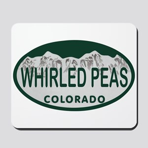 Whirled Peas Colo License Plate Mousepad